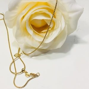14KT Solid Gold Snake Chain Necklace Heart Extdr